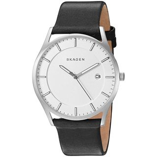 Skagen Men's SKW6283 'Holst' Black Leather Watch