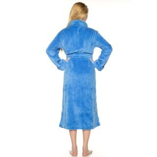 Rhonda Shear Women's Blue, Brown, Grey, Multi, Pink, Purple, Red Polyester Set-in Belt 50-inch Robe