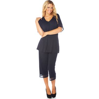 Rhonda Shear CozyKnit Women's Solid-colored Rayon and Spandex Pajama Set|https://ak1.ostkcdn.com/images/products/11914860/P18806411.jpg?impolicy=medium