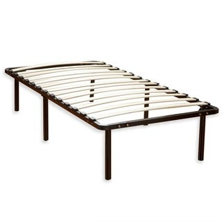 postureloft wood slat and metal queen size platform bed frame