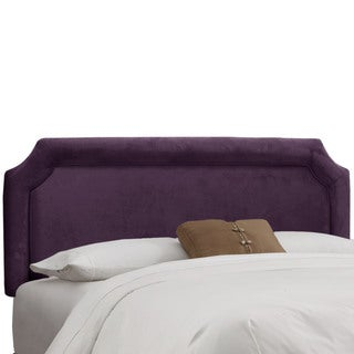 Skyline Furniture Aubergine Velvet Notched Headboard