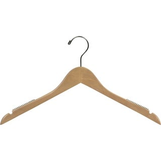 Natural Finish Wood Space-saving Top Hangers
