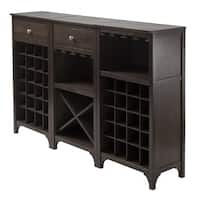 Winsome Wooden Storage 3 Piece Modular Wine Cabinet Set with Drawer