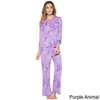 Rhonda Shear Women's Colorful Printed Pajama Set