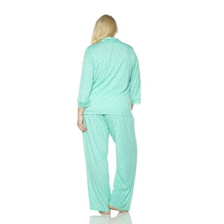 Rhonda Shear Women's Colorful Printed Pajama Set