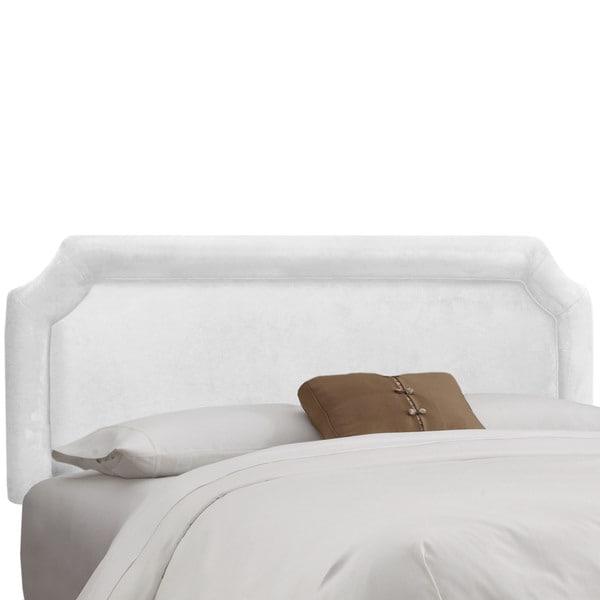 Shop Skyline Furniture White Velvet Notched Headboard