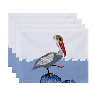 18 x 14-inch Bird Wave Animal Print Placemat (Set of 4)