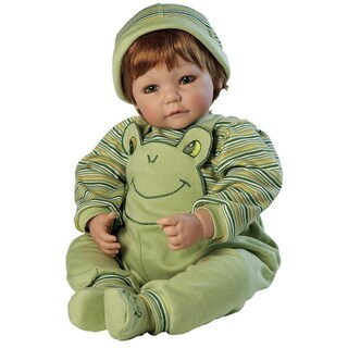 Charisma Adora Multi-color Plastic 20-inch Froggy Fun Baby Boy Doll