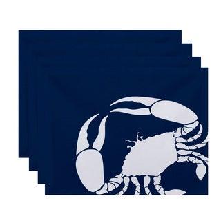 18 x 14-inch Crab Dip Animal Print Placemat (Set of 4)