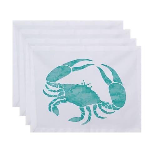 18 x 14-inch Crab Animal Print Placemat (Set of 4)