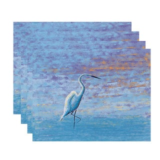 18 x 14-inch Egret Animal Print Placemat (Set of 4)