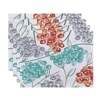 18 x 14-inch Hydrangeas Floral Print Placemat (Set of 4)