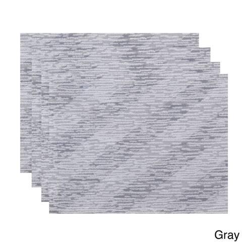18 x 14-inch Marled Knit Stripe Geometric Print Placemat (Set of 4)