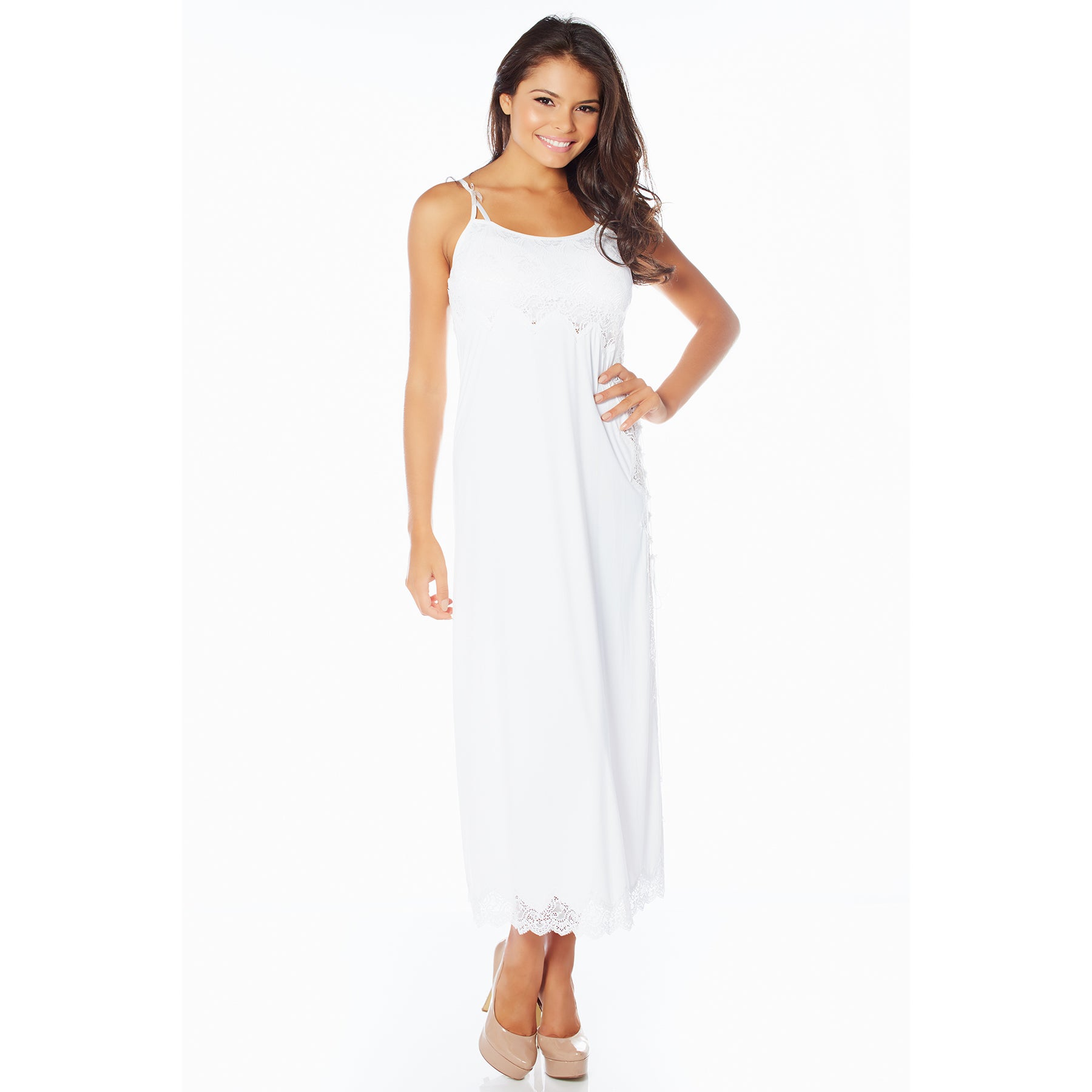Rhonda Shear Women's Sweet Beverly Butterknit Lace Gown (...