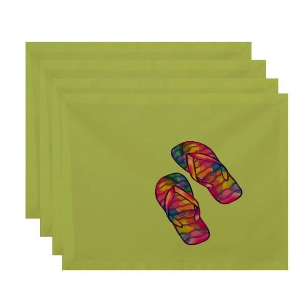 Rainbow Flip Flops Clearance