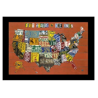 'Fifty States, One Nation' by Aaron Foster Framed Art