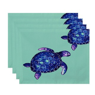 18 x 14-inch Turtle Tales Animal Print Placemat (Set of 4)