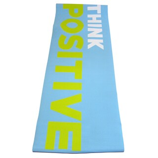 Yoga Mat with Printed Message and Carry Strap (Option: Blue)