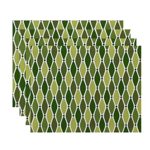 18 x 14-inch Wavy Geometric Print Placemat (Set of 4)