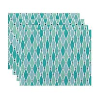18 x 14-inch Wavy Geometric Print Placemat (Set of 4)