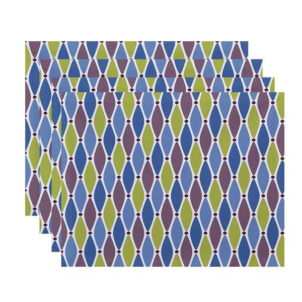 18 x 14-inch Wavy Splash Geometric Print Placemat (Set of 4)