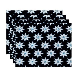 18 x 14-inch Christmas Stars 1 Geometric Print Placemat (Set of 4)