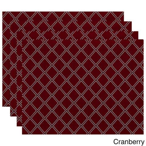 18 x 14-inch Diamond Dots Geometric Print Placemat (Set of 4)