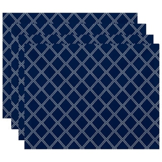 18 x 14-inch Diamond Dots Geometric Print Placemat (Set of 4)