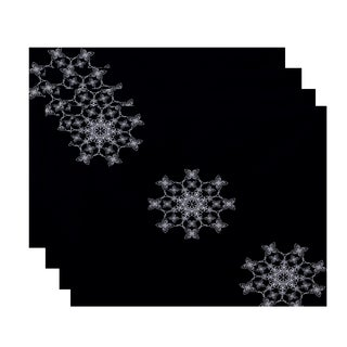 18 x 14-inch Falling Snow Geometric Print Placemat (Set of 4)