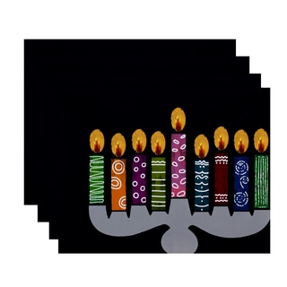18 x 14-inch Festival of Lights Geometric Print Placemat (Set of 4)