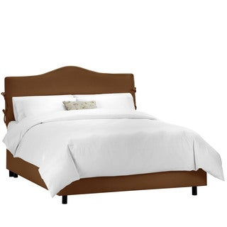 Skyline Furniture Shantung Chocolate Slipcover Bed