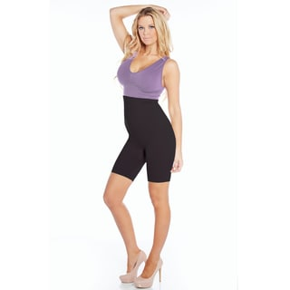 Rhonda Shear Ahh Smooth Operator Women's Nude/Black Nylon and Spandex High-waist Body Shaper