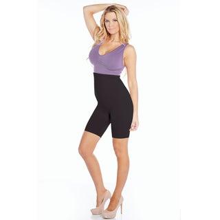 Rhonda Shear Ahh Smooth Operator Women's Nude/Black Nylon and Spandex High-waist Body Shaper