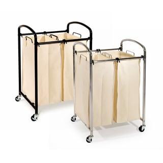 seville classics chrome 2bag laundry sorter