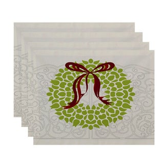 18 x 14-inch Gate Wreath Floral Print Placemat (Set of 4)