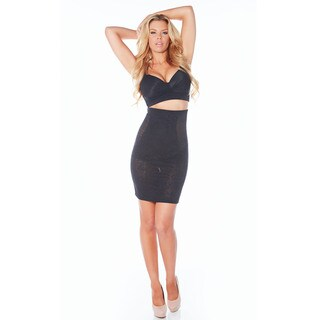 Rhonda Shear Women's Lace Mesh High Waist Longline Slip (5 options available)