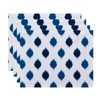 18 x 14-inch Ikat Dot Stripes Geometric Print Placemat (Set of 4)