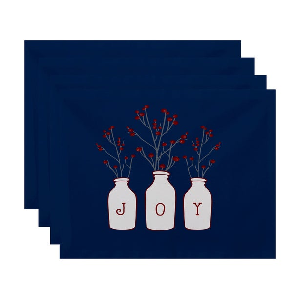 18 x 14-inch Joy Floral Print Placemat (Set of 4)