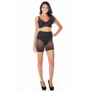 Rhonda Shear Dote on Dots Women's Nylon and Spandex Medium Tummy Control Long Panty
