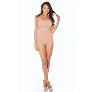 Rhonda Shear Ahh Smooth Women's Black, Nude, Pink Spandex, Nylon Seamless High Waist Firm Control Brief