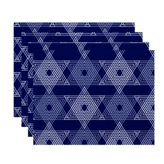 18 x 14-inch Star Light Geometric Print Placemat (Set of 4)
