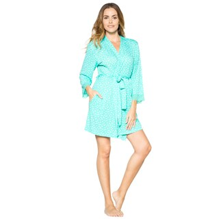 Rhonda Shear Women's Short Printed Robe (More options available)