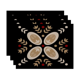 18 x 14-inch Traditional Geometric Print Placemat (Set of 4)