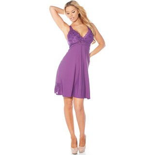 Rhonda Shear Women's Sweet Pea Butterknit Nylon/Spandex Gown