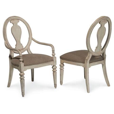 A.R.T. Furniture Belmar II Oval Splat Back Arm Chair (Set of 2)