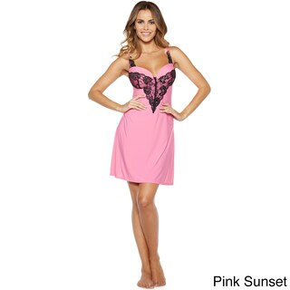 Rhonda Shear Women's Multicolor Nylon/Spandex Molded Cup Chemise (More options available)