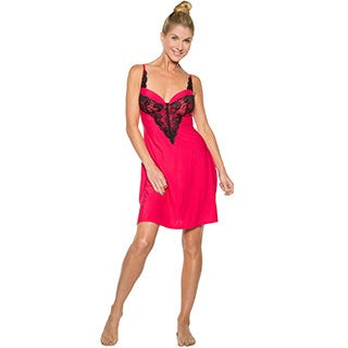 Rhonda Shear Women's Multicolor Nylon/Spandex Molded Cup Chemise