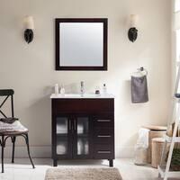 Nova Collection Black/White/Espresso/Grey/Brown Maple/Ceramic Countertop 32-inch Vanity
