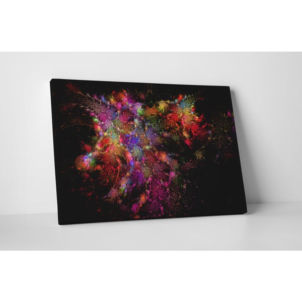 'Color Stitched' Multicolored Gallery-wrapped Canvas Wall Art
