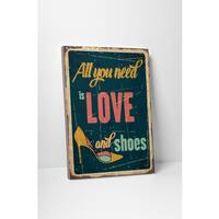 'Love and Shoes' Gallery Wrapped Canvas Wall Art